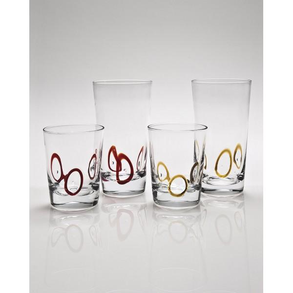 ποτήρια χαμηλά Circles3 cryspo trio