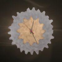 Ρολόγια τοίχου τζακιου μεταλλικά διακοσμητικά